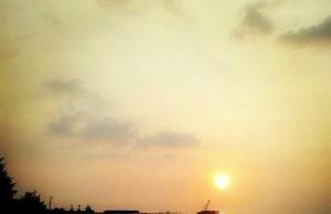 Sunset di Pantai Alam Indah Tegal