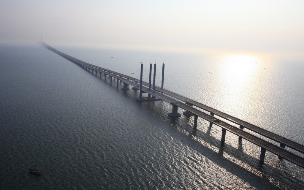 Jembatan Terpanjang di Dunia Jiaozhou Bay Bridge - wallpaperscraft.com